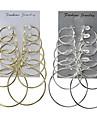 Pentru femei Cercei Rotunzi  Bijuterii Design Basic Multi-moduri Wear Clasic costum de bijuterii Aliaj Round Shape Bijuterii Pentru Nuntă