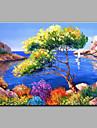 Peint a la main Paysage Format Horizontal,Mediterraneen Un Panneau Toile Peinture a l\'huile Hang-peint For Decoration d\'interieur