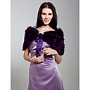 cheap Fans & Parasols-Sleeveless Feather / Fur Party Evening Wedding  Wraps / Fur Wraps With Bowknot Shrugs