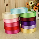 cheap Cake Toppers-Solid Color Satin Wedding Ribbons Piece/Set Satin Ribbon Decorate favor holder Decorate gift box