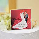 hesapli Pasta Tepesi Süsleri-pasta yonca kişiselleştirilmiş kristal kek Topper - romantik kırmızı