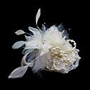 hesapli Parti Başlıkları-Kristal / Tüy / Kumaş  -  Tiaras / Fascinators / Çiçekler 1 Düğün / Özel Anlar / Parti / Gece Başlık