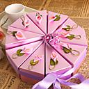 Χαμηλού Κόστους Κουτιά Τούρτας-Κυκλικό / Τετράγωνο Χαρτί Περλέ Εύνοια Κάτοχος με Κορδέλες / Εκτύπωση / Λουλούδι Κουτιά Μποπονιέρων