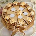 preiswerte Backformen-Pyramide Perlenpapier Geschenke Halter mit Bänder Blume Geschenkboxen