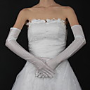 cheap Wedding Shoes-Cotton / Satin Wrist Length / Opera Length Glove Charm / Stylish / Bridal Gloves With Embroidery / Solid
