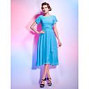 billige Taklamper-A-linje Besmykket Telang Chiffon Cocktailfest Kjole med Perlearbeid / Bølgemønster av TS Couture®