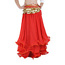 cheap Ballet Shoes-Belly Dance Skirt Women's Performance Chiffon Ruffles Dropped