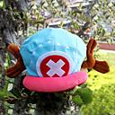 billige Kostymeparykk-Hatt / Lue Inspirert av One Piece Tony Tony Chopper Anime Cosplay-tilbehør CAP konstruktion / Hatt Fløyel Herre ny Halloween-kostymer