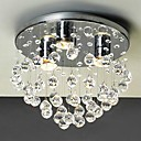 ราคาถูก ไฟเพดาน-QINGMING® 4-Light Flush Mount Ambient Light ชุบโลหะด้วยไฟฟ้า โลหะ คริสตัล, Mini Style 110-120โวลล์ / 220-240โวลต์ หลอดไฟรวมอยู่ด้วย / GU10