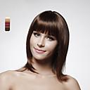 cheap Human Hair Wigs-Straight Bob Haircut Human Hair 14 inch Wig Women's Capless Dark Brown #3 Medium Brown
