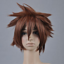 cheap Anime Costumes-Kingdom Hearts Sora Men's 12 inch Heat Resistant Fiber Anime Cosplay Wigs