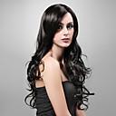 hesapli Elbise Askıları-Sentetik Peruklar Dalgalı Katmanlı Saç Kesimi Sentetik Saç 20 inç Siyah Peruk Kadın's Çok uzun Bonesiz Siyah