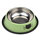hesapli Köpek Oyuncakları-Kedi Desenli Paslanmaz Style Pet Kase
