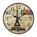 abordables Pelucas Sintéticas de Malla-País Euro Reloj de pared