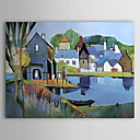 cheap Prints-Oil Painting Hand Painted - Landscape Modern Stretched Canvas