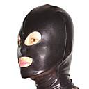 billige Zentai-Maske Ninja Zentai Cosplay-kostymer Svart Ensfarget Maske Spandex Herre Dame Halloween