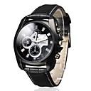 preiswerte Kleideruhr-Herrn Armbanduhr Quartz Armbanduhren für den Alltag PU Band Analog Charme Schwarz - Schwarz