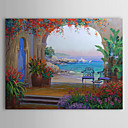 cheap Floral/Botanical Paintings-Oil Painting Hand Painted - Landscape Comtemporary Canvas