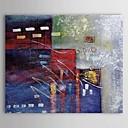 billige Antrekk til latindans-Hang malte oljemaleri Håndmalte - Abstrakt Klassisk Lerret / Stretched Canvas