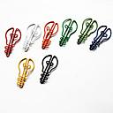 baratos Essenciais de Escritório-coloridos do estilo lâmpada de papel (cor aleatória, 10-pack)