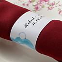 halpa Pikkulahjat - pullot-Materiaali Häät Napkins - 50pcs Servetit Servet Ring Häät Vuosipäivä Syntymäpäivä Kihlajaisjuhla Polttarit Koti Quinceañera & Sweet