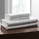 cheap Pillowcases-Sheet Set - Linen Handmade Solid Colored 1pc Flat Sheet 1pc Fitted Sheet