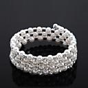 preiswerte Nagel Design-Damen Perle 1 - Mehrreihiges Armband Tennis – Armband Klassisch Armbänder Für Hochzeit Party Verlobung