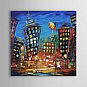 billige Valset lerretskunst-Hang malte oljemaleri Håndmalte - Landskap Moderne Inkluder indre ramme / Stretched Canvas