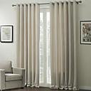 abordables Cortinas-Dos Paneles Ventana Tratamiento Modern , En Relieve Sala de estar Poliéster Material cortinas cortinas Decoración hogareña