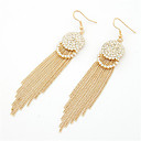 cheap Bracelets-Women's Tassel / Long Drop Earrings - Rhinestone, Imitation Diamond Tassel Black / Silver / Golden For Party / Daily