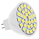 billige LED-lyspærer-4W 420lm GU5.3(MR16) LED-spotpærer MR16 30 LED perler SMD 5050 Naturlig hvit 12V