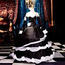 זול תחפושות בסגנון משחקי וידאו-קיבל השראה מ Vocaloid Kagamine Rin וִידֵאוֹ מִשְׂחָק תחפושות קוספליי חליפות קוספליי שמלות טלאים ללא שרוולים שמלה כיסוי ראש שרוולים