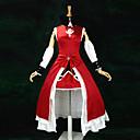 hesapli Anime Kostümleri-Esinlenen Puella Magi Madoka Magica Kyoko Sakura Anime Cosplay Kostümleri Cosplay Takımları / Elbiseler Kırk Yama Kolsuz Elbise / Kollar / Saç Bandı Uyumluluk Kadın's / Saten