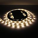 billige Negleklistremerker-5 m Fleksible LED-lysstriper 150 LED 5050 SMD Varm hvit Vanntett 12 V