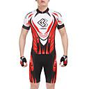 ieftine Șosete-Bărbați Manșon scurt Jerseu Cycling cu Pantaloni Scurți - Rosu Bicicletă Pantaloni scurți Jerseu Set de Îmbrăcăminte, Uscare rapidă, Vară