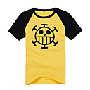 hesapli Anime Kostümleri-Esinlenen One Piece Trafalgar Law Anime Cosplay Kostümleri Cosplay Üstler / Bottoms Desen Kısa Kollu Palto Uyumluluk Erkek