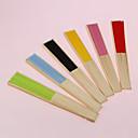 billige Vifter og parasoller-pen bomull hånd fan (flere farger)