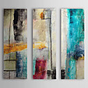 cheap Top Artists' Oil paitings-Hand-Painted Abstract Vertical, Modern European Style Oil Painting Home Decoration Three Panels