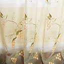 baratos Cortinas Blackout-(Dois painéis) país uva bordado pura cortina