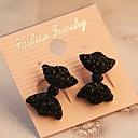 ieftine Cercei la Modă-Pentru femei Diamant sintetic Cercei Stud - Diamante Artificiale Nod Funda Personalizat, Cute Stil Negru Pentru Petrecere / Zilnic