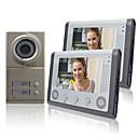 """baratos Sistemas de Câmeras para Portas-Night Vision 7 """"Telefone video da porta Para Vizinhos 2 Famílias apartamentos distribuídos barato"""