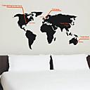 ieftine Gene False-Autocolante de Perete Decorative - Harta autocolantelor de perete Cuvinte & Citate Sufragerie / Dormitor / Cameră de Băieți