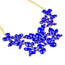 baratos Conjuntos de Bijuteria-Mulheres Camadas Colares Declaração / Colar vintage - Multi Camadas Laranja, Amarelo, Azul Colar Jóias Para