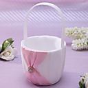 """cheap Flower Baskets-Flower Basket Satin 8 3/5"""" (22 cm) Rhinestone / Sash"""