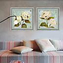 preiswerte Kappenlos-Gerahmtes Leinenbild Gerahmtes Set Blumenmuster/Botanisch Wandkunst, PVC Stoff Mit Feld Haus Dekoration Rand Kunst Wohnzimmer Esszimmer