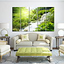 "baratos Artigos de Forno-28 ""-35"" Country Style Relógio de parede verde na tela 5pcs"