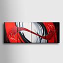 baratos Edredons de Luxo-Pintura a Óleo Pintados à mão - Abstrato Tela de pintura 4 Painéis