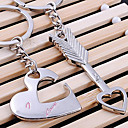 cheap Keychains-Heart Keychain LOVE Silver, Alloy Love For Gift