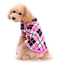 cheap Pet Christmas Costumes-Dog Sweater Dog Clothes Cute Keep Warm Plaid/Check Pink Costume For Pets