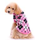 رخيصةأون طعم صيد الأسماك-كلب البلوزات ملابس الكلاب جميل الدفء Plaid/Check زهري كوستيوم للحيوانات الأليفة